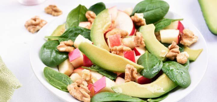 Apple Cranberry Spinach Salad With A Lemon Vinaigrette