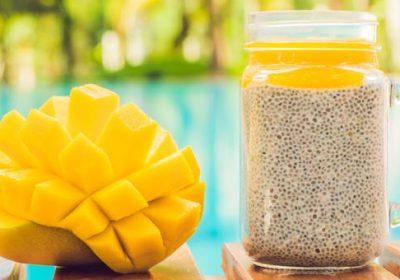 Vegan Mango Coconut Chia Pudding