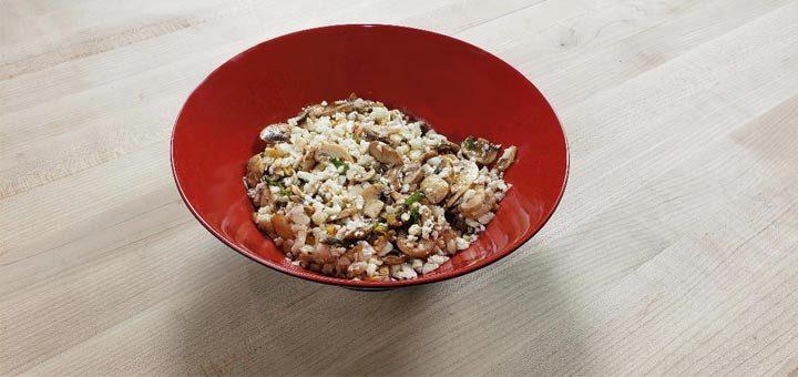 Jerk Marinated Mushrooms With Cauliflower Rice