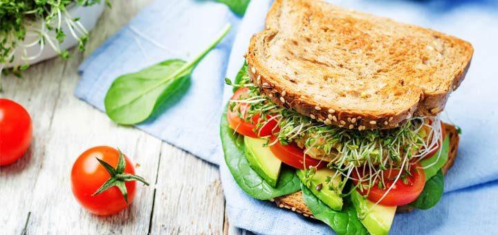 Fresh Vegetable Sandwich With An Avocado Dressing