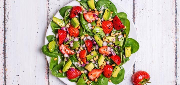 Strawberry Spinach And Avocado Salad